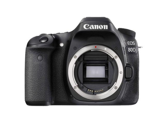 Canon EOS 80D 24.2MP DSLR Camera with 18-55mm Lens + 32GB Top Accessory Bundle
