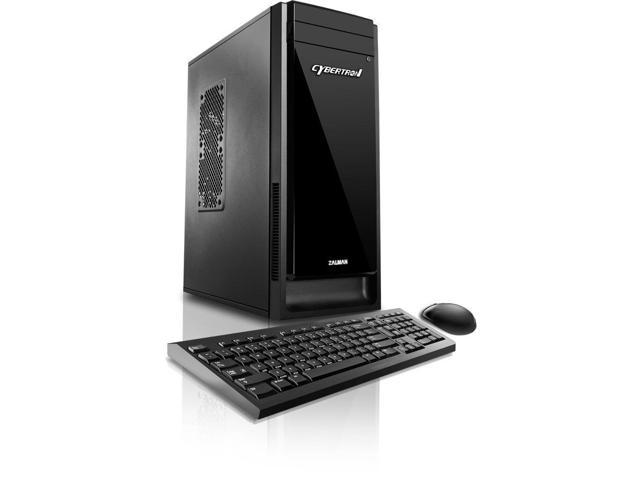 CybertronPC Evoke Desktop Intel i5-7400 Quad-Core 3.0GHz, 4GB DDR4-2133, 1TB HDD, 120GB SSD, MS Windows 10
