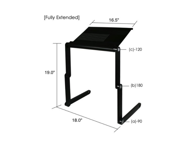 The House Of Trade Laptop Stand TV Tray Adjustable Height With Fan   Black  ...