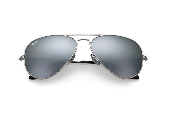 Ray Ban Aviator Flash Mirror Sunglasses - Silver Mirror / Silver Frame RB3025 W3277