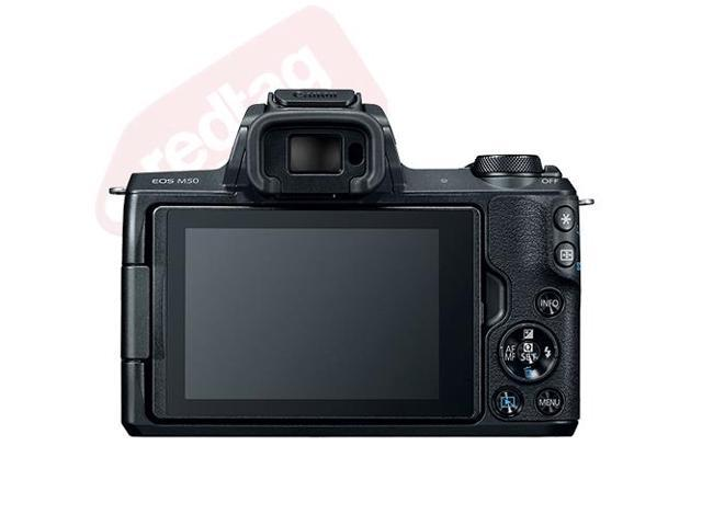 Canon EOS M50 Mirrorless Digital Camera with 15-45mm EF-M IS STM Lens Black