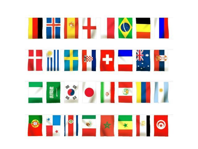 a50a821a0 Ec2world 2018 Fifa World Cup Russia Soccer Top 32 String Flag. Anself 200 Countries  World String Flag Hanging Banner