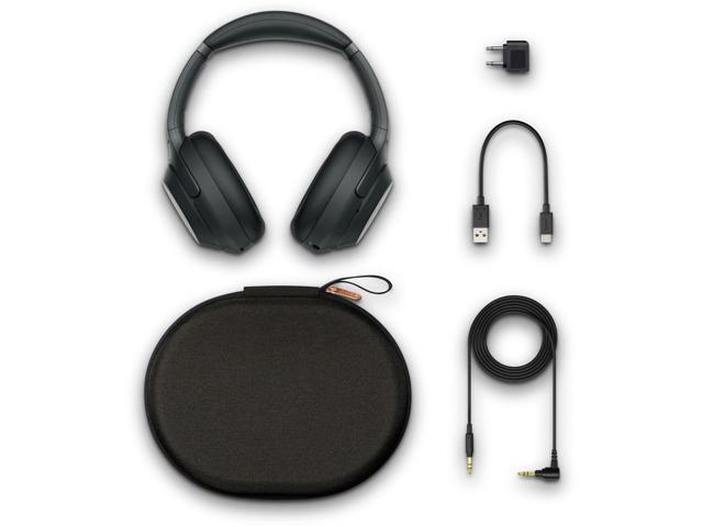 Sony Wireless Noise-Canceling Over-Ear Headphones (Black) - Includes - Cleaning Kit