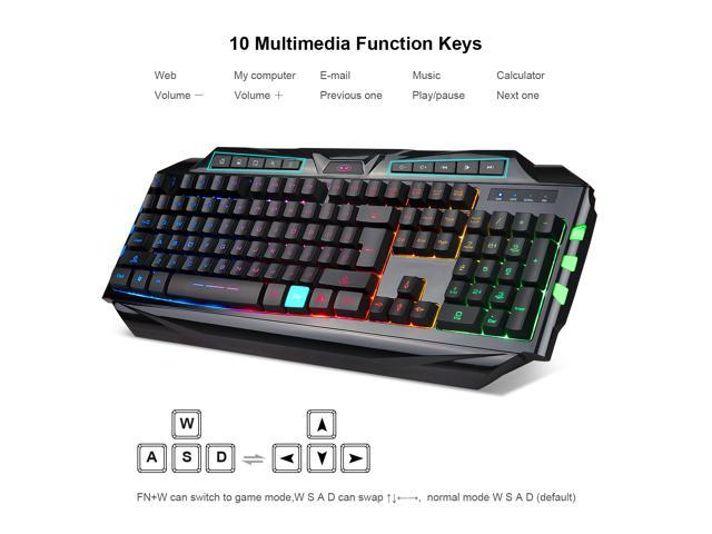 MAGEGEE GK710 Keyboard/Mouse Combo for PC, USB Gaming keyboards Wired Mouse(Black)
