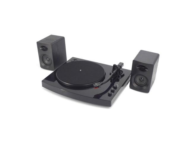 Speed Bluetooth Turntable System With Stereo Speakers Black - Abt speakers