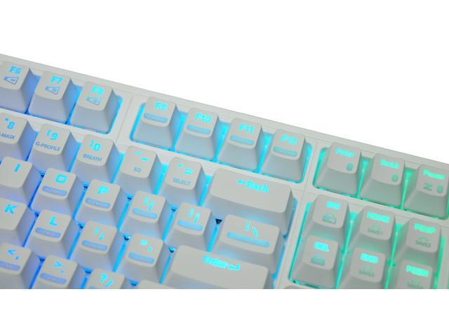 Zalman ZM-K900M White Edition Gaming Mechanical Keyboard Brown Switch RGB Illumination On-Board Macro and Profile Setup