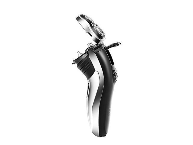 Runwe RS986 Premium Rotary Shaver Electric Razor with Waterproof and Quick Charge Feature for Men, Black