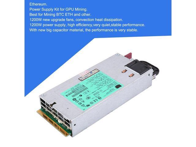 Professional 94% Platinum 1200\900 Watt Power Supply for GPU Open Rig Mining Ethereum ,GPU Mining Video Card Mining Bitcoin Rigs Dedicated