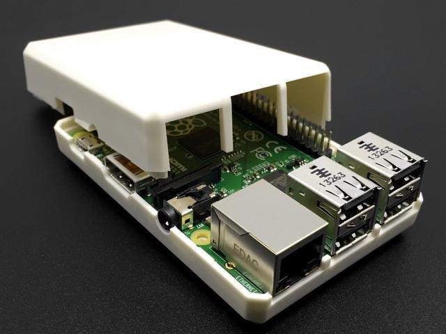 White Closed Case for Raspberry Pi 3 for XBMC Users