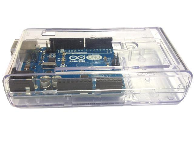 SB Components Arduino Mega Case Enclosure Clear Transparent Computer Box with Switch