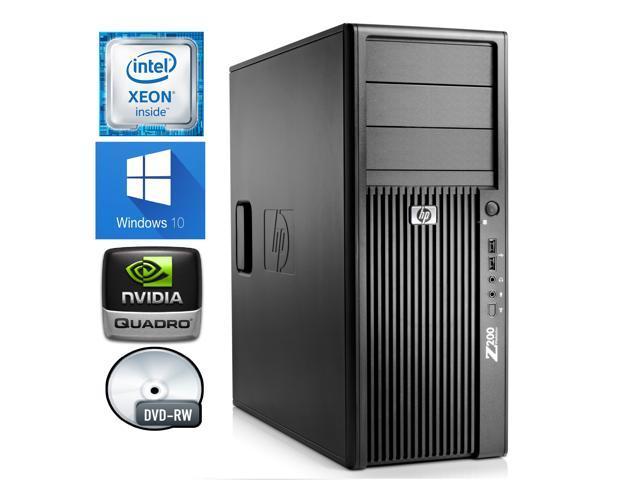 Refurbished: HP Z200 Workstation- Intel Quad Core i5 750 / 2.66 GHz- 16GB DDR3 RAM- 500GB HDD- DVD-RW- Nvidia Quadro 600 1GB PCI-E Video Card- Windows 10 Pro 64-Bit