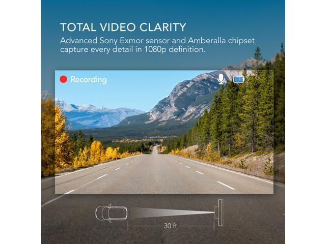 """Roav by Anker Dash Cam C2, FHD 1080P, 3"""" LCD, 4-Lane Wide-Angle View Lens, G-Sensor, WDR, Loop Recording, Night Mode, 2-Port Charger, No Wifi or APP"""