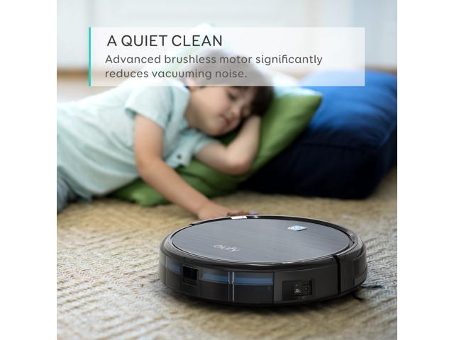 Refurbished: eufy RoboVac 11, High Suction, Self-Charging Robotic Vacuum Cleaner with Drop-Sensing Technology and High-Performance Filter for Pet, Designed for Hard Floor and Thin Carpet