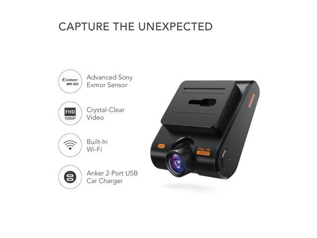 Refurbished: Roav by Anker Dash Cam C1, Car Recorder with Sony Sensor, 1080P FHD, 4-Lane Wide-Angle View Lens, Built-in WiFi with APP, G-Sensor, WDR, Loop Recording, Night Mode, Parking Mode [Upgraded Version]