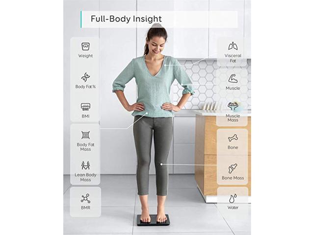 eufy Smart Scale C1 with Bluetooth, Large LED Display, 12 Measurements, Weight/Body Fat/BMI/Fitness Body Composition Analysis, Auto On/Off, Auto Zeroing, Tempered Glass Surface, Black, lbs/kg