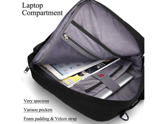 SOCKO 17 Inch Laptop Backpack with Side Handle and Shoulder Strap,Travel Bag Hiking Knapsack Rucksack College Student Shoulder Back Pack for Up to 17 Inches Laptop Notebook Computer, Black+Yellow