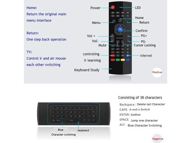 air mouse backlit MX3 pro with voice microphone 2.4G wireless mini keyboard