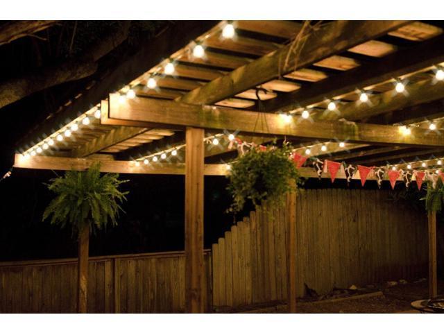 led hanging lights outdoor zef jam sunthin outdoor led string lights 24ft long with hanging loops 12 e26 dropped sockets