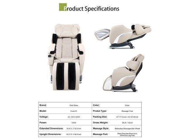 Zero Gravity Full Body Massage Chair real relax full body shiatsu massage chair recliner zero gravity