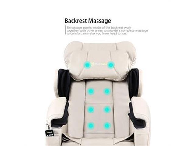 Real Relax Full Body Shiatsu Massage Chair Recliner ZERO GRAVITY Foot  Rest Khaki ...