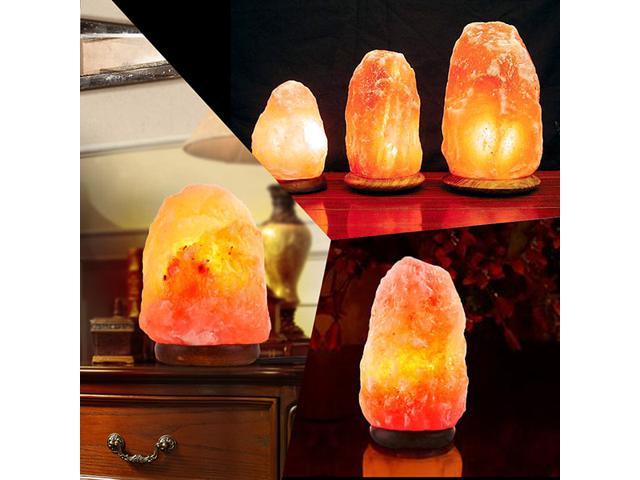 SMAGREHO Natural Himalayan Salt Lamp, Hand Carved Crystal Glow Rock Lamp,Includes Neem Wood Base / Bulb, UL Listed On and off function Dimmer Switch (6-7 inch, 4 - 5lbs)