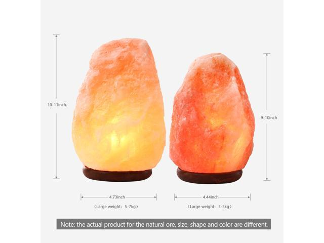 SMAGREHO Natural Himalayan Salt Lamp, Hand Carved Crystal Glow Rock Lamp,Includes Neem Wood Base / Bulb, UL Listed On and off function Dimmer Switch(9-11 inch, 11 - 15.5 lbs)