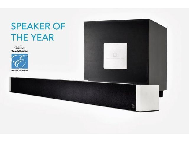 "Refurbished: Definitive Technology - W Studio Soundbar with 8"" Wireless Subwoofer and Wi-Fi Music Streaming - Black - OEM"