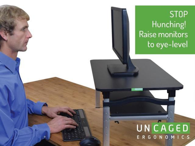 lift tall adjustable height computer monitor stand for sitting u0026 standing desk
