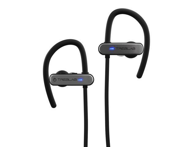 TREBLAB XR800 Bluetooth Headphones, Best Wireless Earbuds For Sports, Running Or Gym Workouts. 2017 Best Model. IPX7 Waterproof, Sweatproof, Secure-Fit. Noise Cancelling Earphones w/ Mic (Graphite)