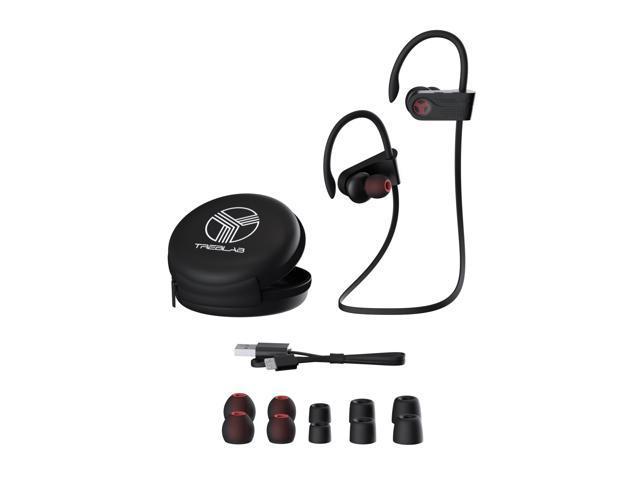 TREBLAB XR700 PRO Wireless Running Earbuds - Top 2019 Sports Headphones, Custom Adjustable Earhooks, Bluetooth 5.0 IPX7 Waterproof, Rugged Workout Earphones, Noise Cancelling Microphone In-Ear Headset