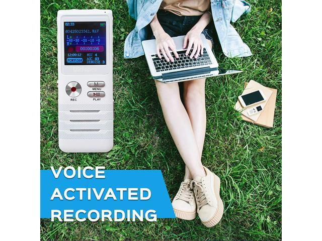 Refurbished: Digital Voice Activated Recorder by Dictopro- Easy HD Recording Of Lectures And Meetings With Double Microphone, Noise Reduction Audio, High Quality Sound, Portable Mini Tape Dictaphone, MP3, USB, 8GB