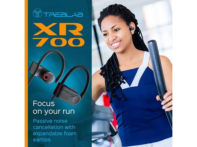 TREBLAB XR700 PRO Wireless Running Earbuds - Top 2019 Sports Headphones, Custom Adjustable Earhooks, Bluetooth 5.0 IPX7 Waterproof, Rugged Workout Earphones, Noise Cancelling Microphone In-Ear Headset