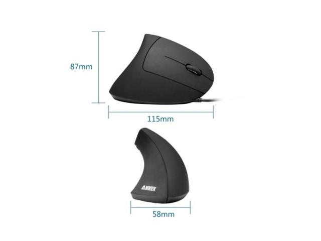 Anker 1000 / 1600 DPI Ergonomic Optical 5 Buttons 1 Wheel Wired Mouse,98ANWVM-BA for Windows 8 / 7 / Vista / XP / 2000, Mac OS X