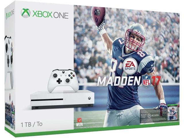 Refurbished: Microsoft Xbox One S 1TB Console - Madden NFL 17 Bundle