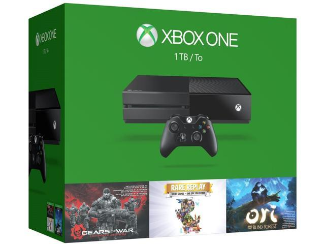 Refurbished: Microsoft Xbox One 1TB Console - 3 Games Holiday Bundle (Gears of War: Ultimate Edition + Rare Replay + Ori and the Blind Forest)
