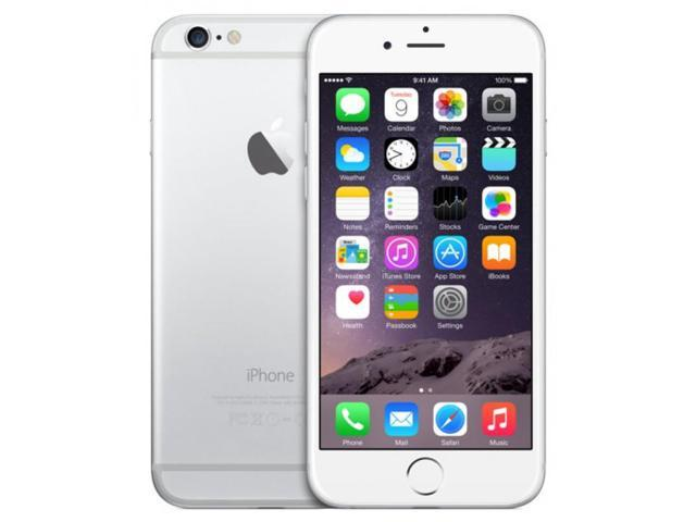 "Refurbished: Apple iPhone 6 4G LTE Unlocked GSM Cell Phone 4.7"" Silver 64GB 1GB RAM"