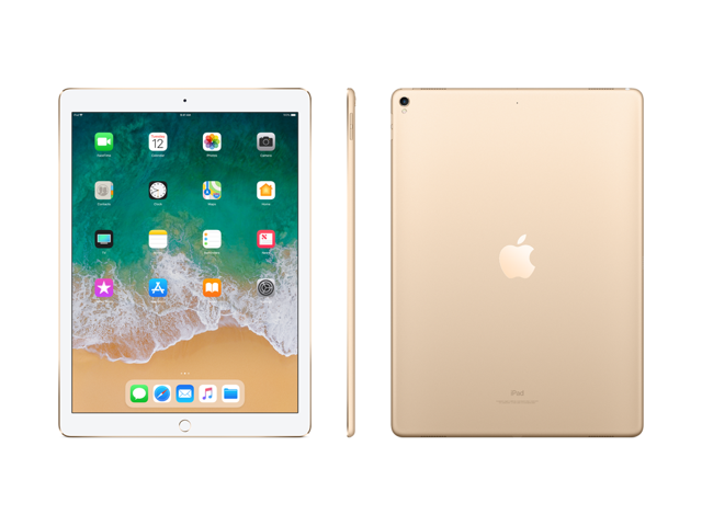 "Apple iPad Pro Tablet - 12.9"" - (64GB, Wi-Fi + 4G LTE, Gold) - MQEF2LL/AGold"