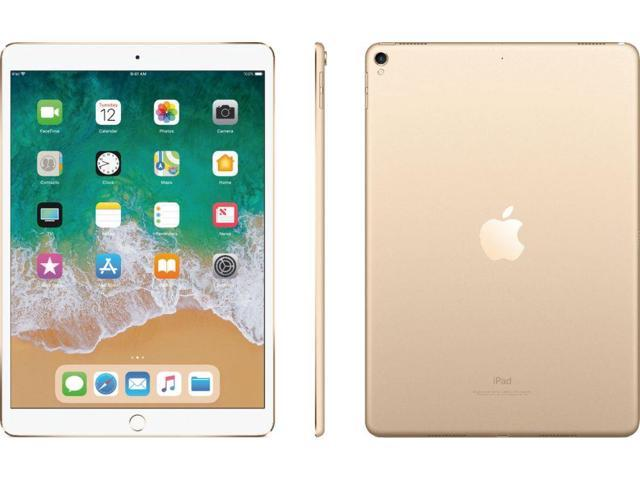 "Apple iPad Pro Tablet - 10.5"" - Apple A10X Hexa-core (6 Core) - 64 GB - iOS 10 - 2224 x 1668 - Retina Display - 4G - GSM, CDMA2000 Supported - Gold"