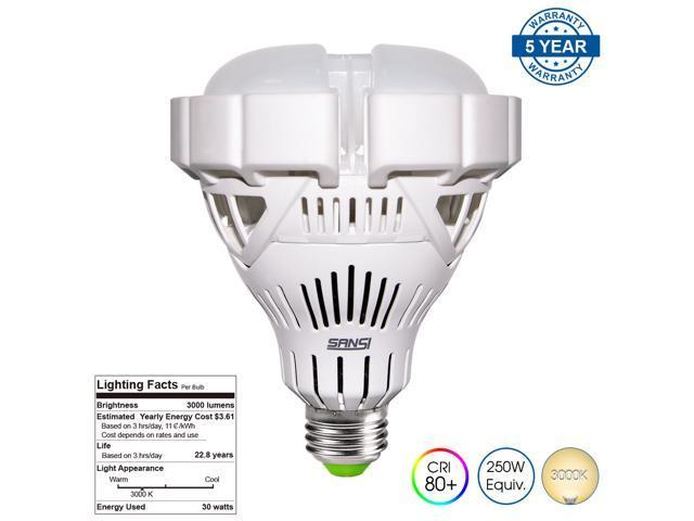 sansi br30 30w 250 watt equivalent ceramic led light bulb2800lm