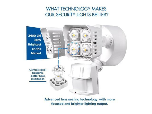 Shop Good Earth Lighting Metropolitan 3 Light Bronze: SANSI LED Security Light, 30W, 250W Equivalent, 3400lm
