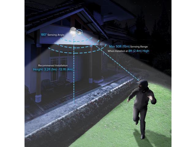 SANSI LED Security Lights, 18W (150Watt Incandescent Equiv.) Motion Sensor Lights, 1800lm 5000K Daylight Waterproof Outdoor Floodlights with Adjustable Dual-head, Bronze