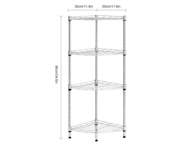 living room shelving unit langria 4 tier wire corner shelving unit storage shelves 15869