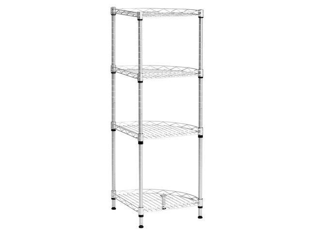 Langria 4 Tier Wire Corner Shelving Unit Storage Shelves