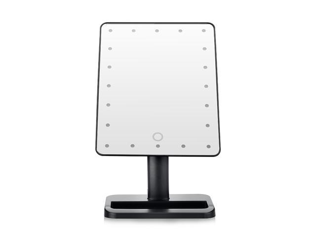 20 LEDs Touch Screen Portable Cosmetic Makeup Mirror LED Lighted Adjustable Vanity  Tabletop Countertop Mirror ...