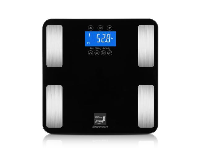 Excelvan Touch 400 lbs Digital Body Fat Scale -7 Parameters (Body ...