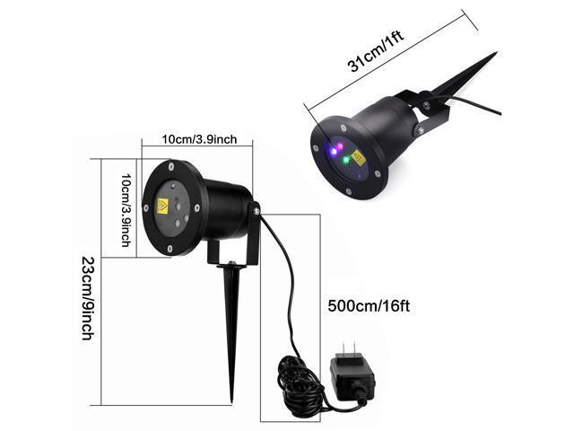Floureon RGB Dynamic Firefly Laser Projector Light with Light Sensor for Christmas Garden Landscape