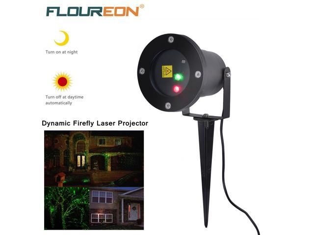 Floureon Outdoor Red Green Dynamic Laser Projector Lawn Lamp Built-in Light Sensor For Garden Landscape Christmas