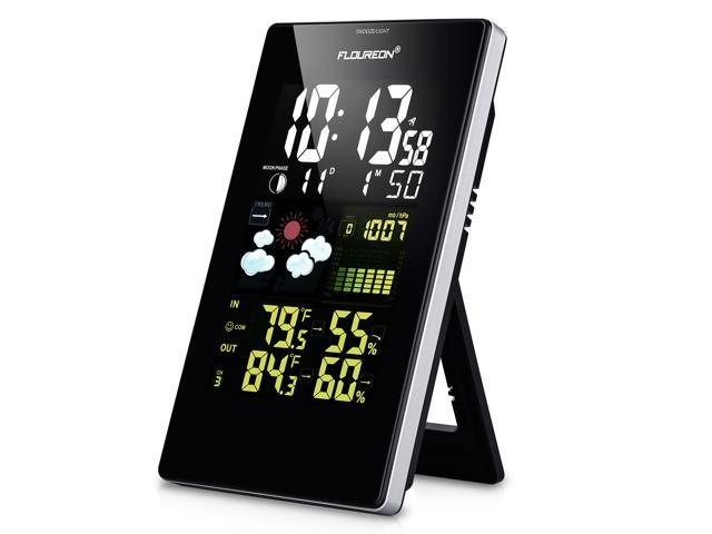 Floureon 3352C Wireless Color Weather Station Forecaster with In/Outdoor Temperature Humidity Alarm Snooze Function