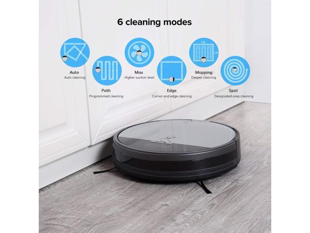 Ilife V8S Robotic Vacuum Cleaner with LCD Display 750ML Big Dustbin Multi-task schedule
