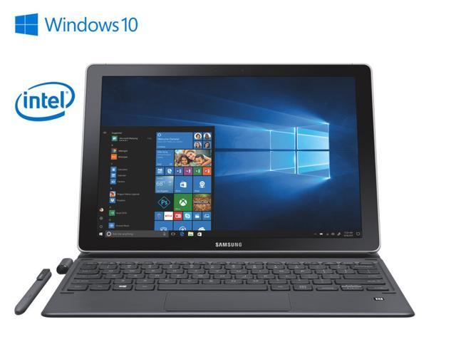 """Samsung Galaxy Book - 12"""" FHD Super AMOLED Display Tablet - 7th Gen i5-7200 - 8GB RAM / 256 GB SSD - 13MP Rear Camera 5MP Front Camera with S Pen and Keyboard Cover - Silver - Windows 10 Home"""